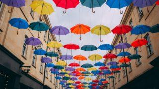 ゲリラ豪雨で折り畳み傘ケース大活躍!